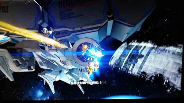 """""""Gunpla Battle Simulator 2.0!!"""" cutscene."""
